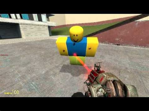 garry mod games roblox roblox model imported into garry s mod youtube