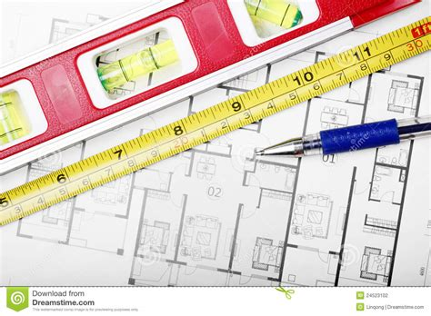 floor plan tools floor plan and tools stock photography image 24523102