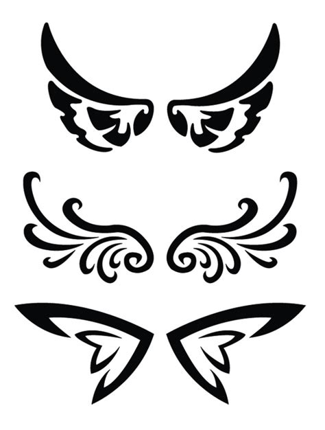 henna tattoo designs wings simson