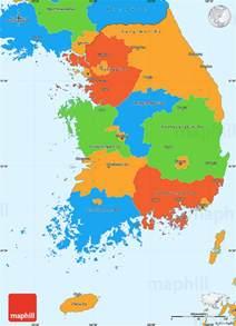 political map of korea political simple map of south korea