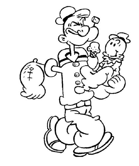 coloring pages of cartoon characters to print popeye cartoon characters coloring pages to print