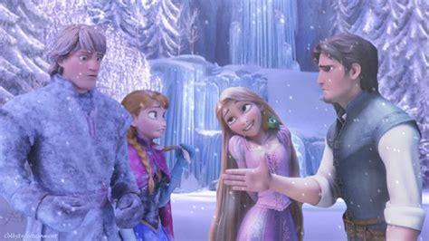 film elsa vs rapunzel frozen let it go please rated e