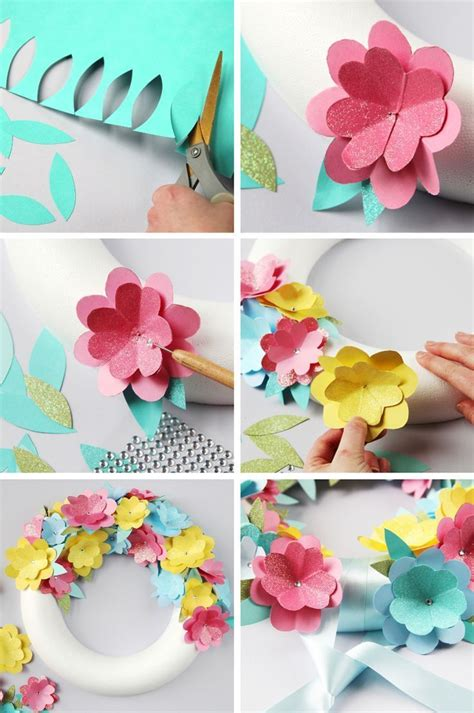How To Make Paper Flower Decorations - 17 best ideas about easy paper flowers on