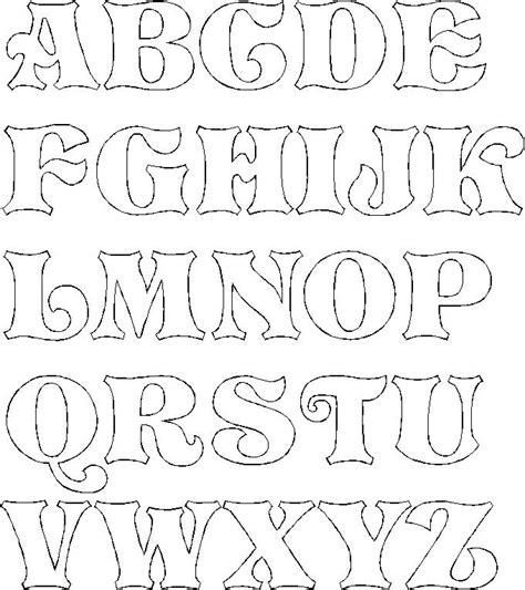 free printable outline fonts free printable bubble letter stencils free printable