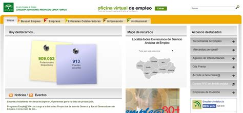 oficina virtual de empleo andaluz cv en la oficina virtual de empleo de andalucia