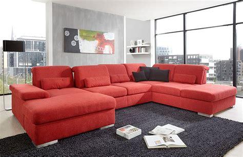 polstermöbel mit ottomane wohnlandschaft rot bestseller shop f 252 r m 246 bel und