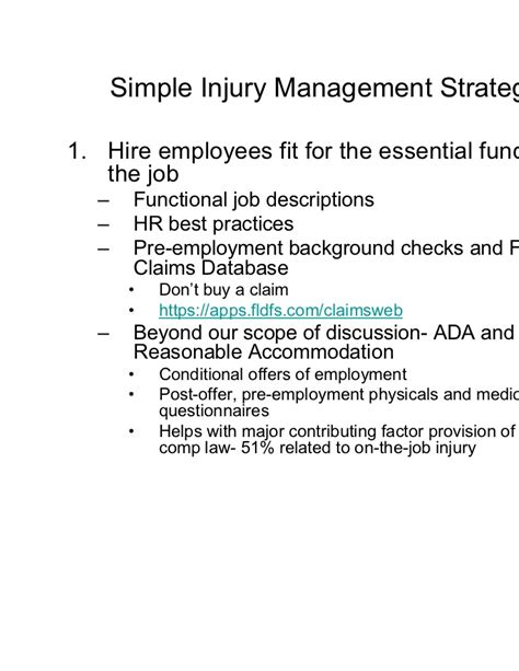 fldfs work comp work comp simple tactics to a complex cost