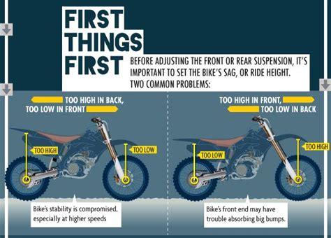 suspension tuning chart motocross suspension setup guide from motocrossgear com