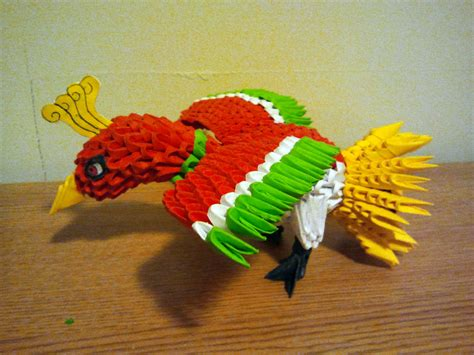 Origami 3 D - 3d origami ho oh by pokegami on deviantart