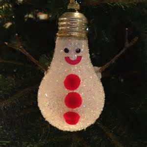 light bulb snow man christmas ornament christmas pinterest