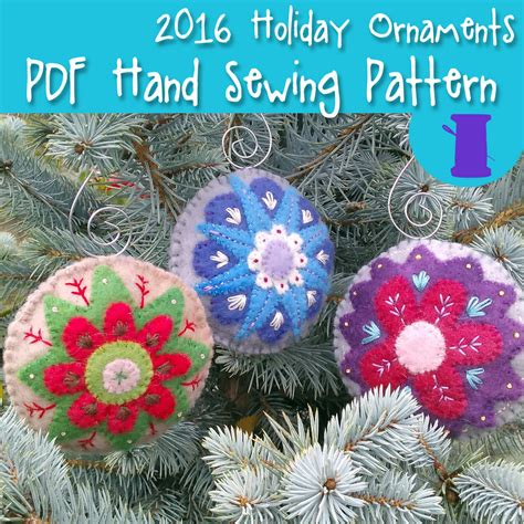pdf hand sewing pattern wool felt christmas ornament