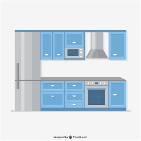 imagenes vectores cocina muebles de cocina realistas descargar vectores gratis