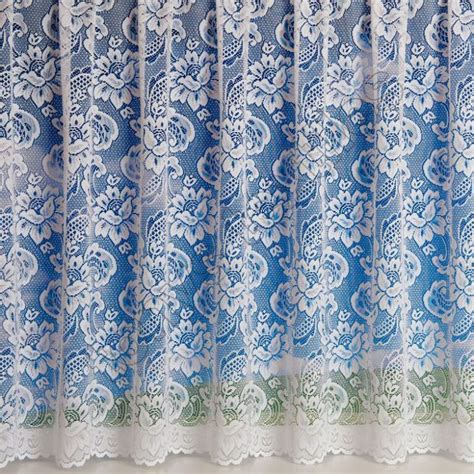 canterbury floral curtains canterbury floral net curtain white tonys textiles