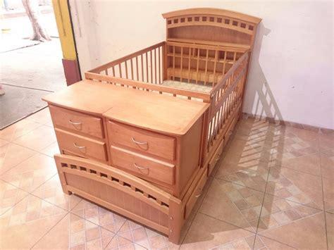 cama con cuna cama cuna cuna recamara hecha en pino 100 con