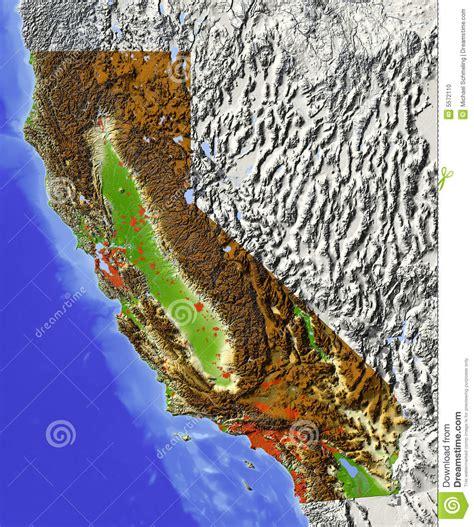 cadenas de oro en los angeles california la californie carte d all 233 gement photo stock image 5572110