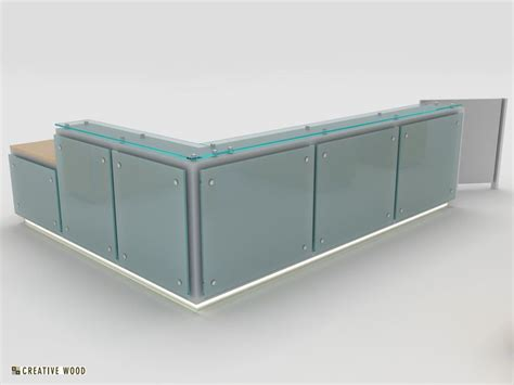 Floating Glass Reception Desk Office Pinterest Reception Desk Glass