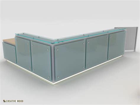 Floating Glass Reception Desk Office Pinterest Glass Reception Desks