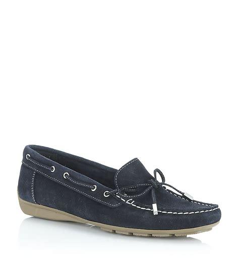 carvela loafers carvela kurt geiger lovely suede loafer in blue navy lyst