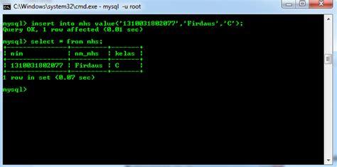 cara membuat database xp di cmd cara membuat database mysql di xp dengan cmd struktur web