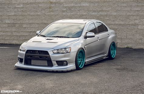 stanced mitsubishi lancer image gallery stanced evo 10