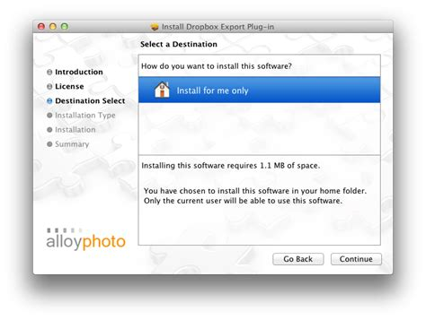 dropbox installer mac installation instructions alloyphoto
