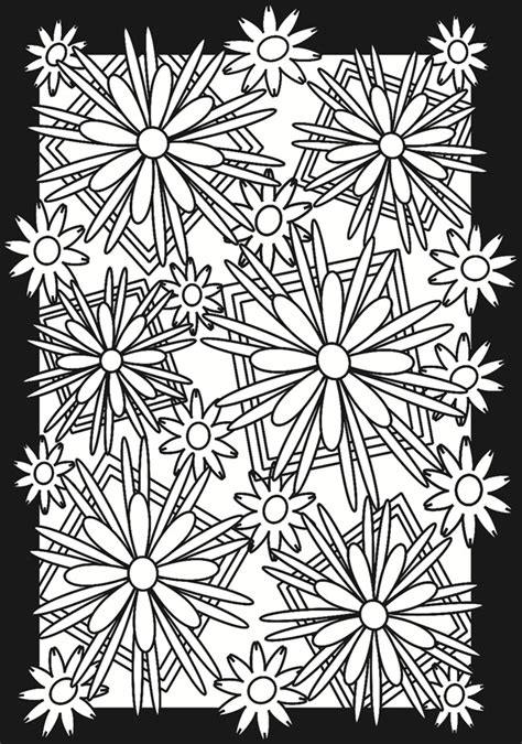 stained glass coloring book flower power stained glass coloring book dover