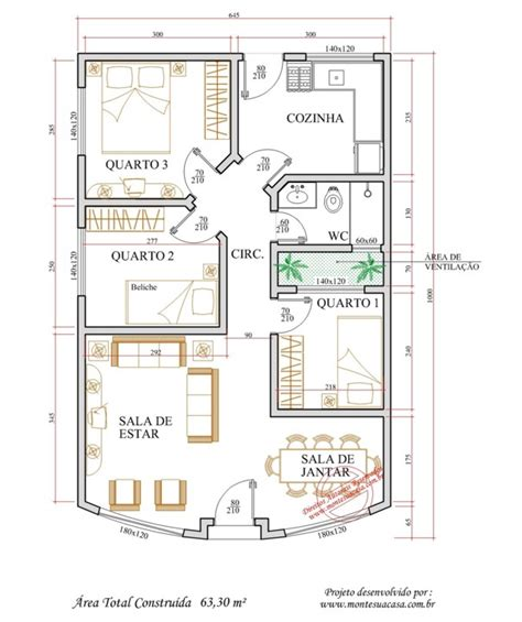 planta casas plantas de casas 3 quartos dicas atuais