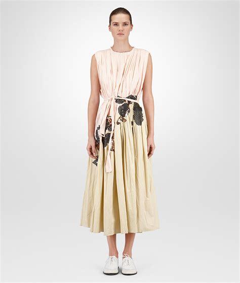 Vumeta Dress 1 lyst bottega veneta pale banane embroidered cotton dress in yellow
