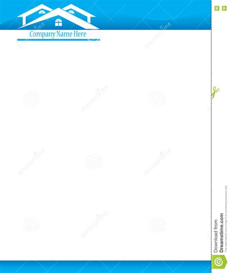 Pic Template by Blue House Letterhead Template Stock Photo Image 75484146
