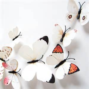 H023 3d Wall Sticker Butterfly Pvc Stiker Dinding Kupu Kupu Motif Te 3d butterfly sticker design decal wall stickers home