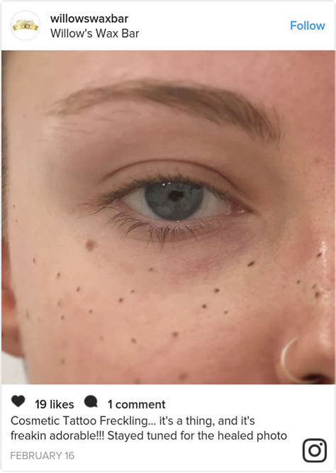 tattooed freckles tattooing freckles on your is the new craze