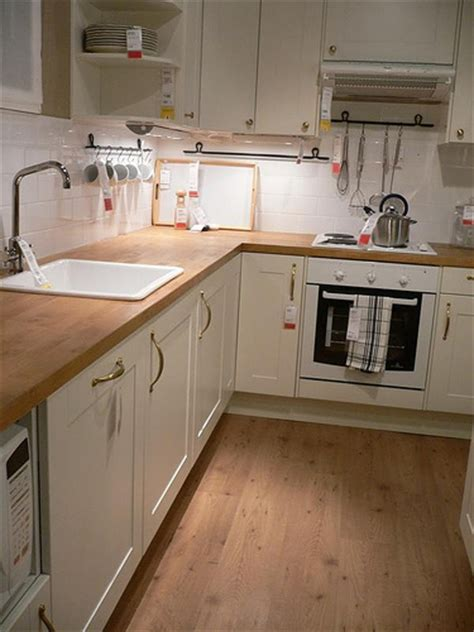 wooden bench tops kitchen ikea kitchen i ve always loved this style of kitchen white flickr