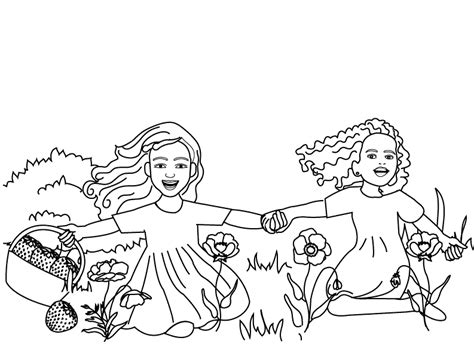 happy girl coloring page coloring pages happy girls