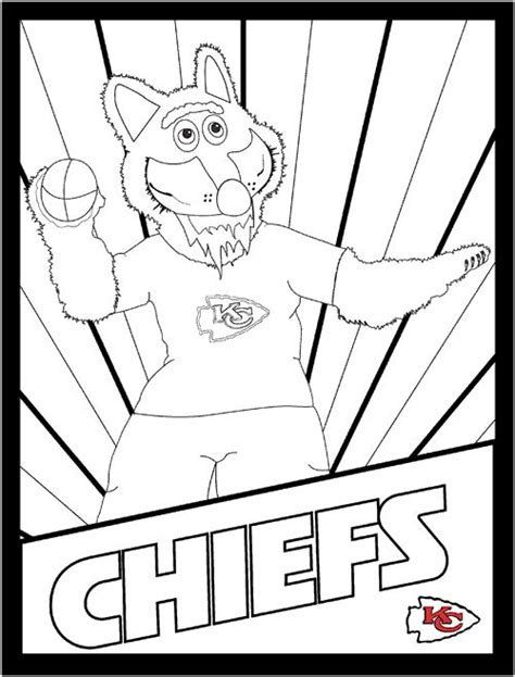 kc chiefs sports coloring book pages pinterest