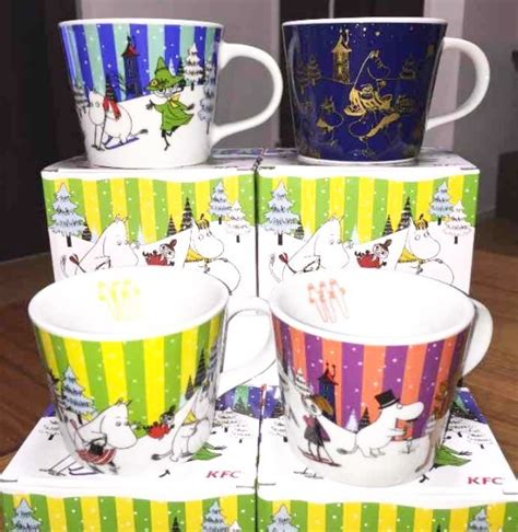Special Edition Huang Character Tea Cup Squishy moomin mug tea cup limited edition sold at only kfc japan set of 4 ebay