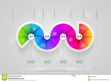 color info circle shape infographic design template royalty free