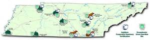 Tn State Parks Map by Tn Golf Trail Certified Audubon Cooperative Sanctuary