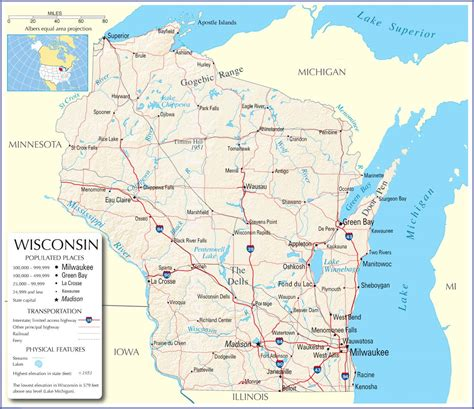 wisconsin on us map wisconsin map wisconsin state map wisconsin state road map