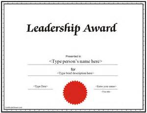 Leadership Certificate Template by Education Certificates Leadership Award Certificate