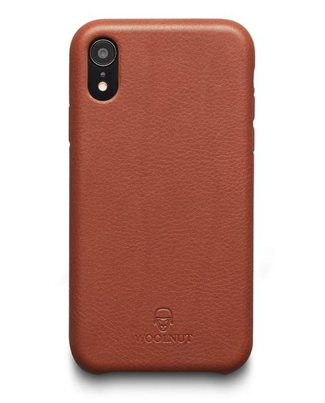 woolnut iphone xr in cognac brown leather official webshop