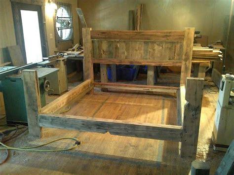 items similar  reclaimed barn wood bed frame  etsy