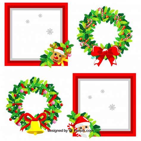 cornici per foto natalizie gratis carino pacco di cornici di natale scaricare vettori gratis