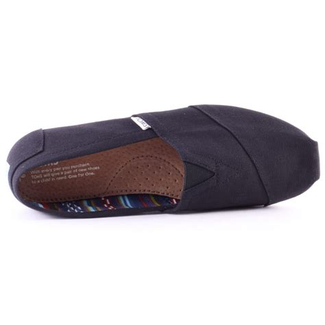 toms classic mens slip on black new shoes ebay