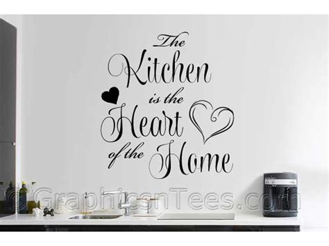 kitchen is the of the home kitchen is the of the home family wall sticker