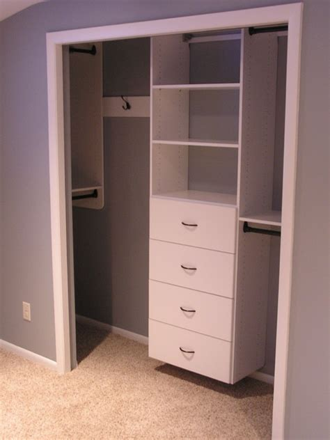 Tailored Living Closets by Guest Room Reach In Closet Traditional Closet Other