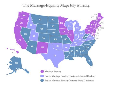 marriage map one year after u s v the marriage equality map ms magazine