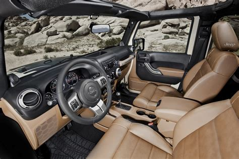 white jeep sahara tan interior jeep broadens wrangler lineup with new mojave special