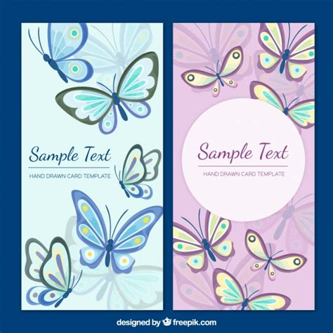 free butterfly card template butterflies card template vector free