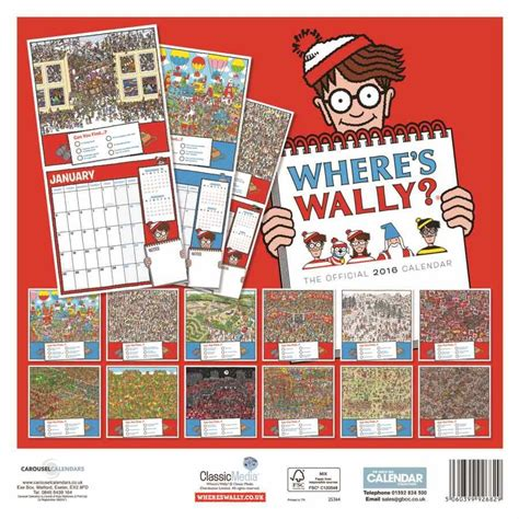 Where S Wally Calendar 2016 Wheres Wally 2016 Wall Calendar Calendar Club