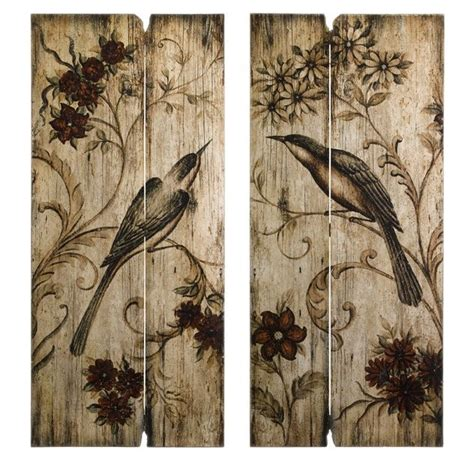 french country wall art french country  bird floral